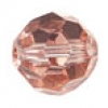 "Glass Round Facetted 4mm 16"" Strung Half Coated Copper"
